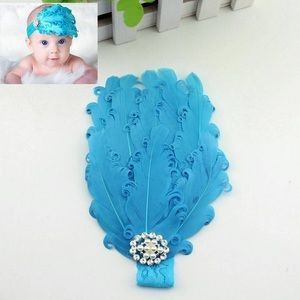 Other - Brand New Baby Toddler Girl Feather Jewel Headband
